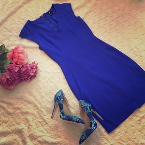 Blue fitted H&M dress